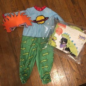 Rugrats Chuckie & Reptar Costumes